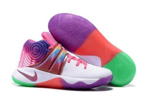 Nike Kyrie 2 II EP Rainbow Men Shoes Purple Orange Green