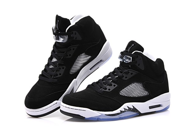 Nike Air Jordan V 5 Retro Gs Oreo Black White Cool Grey
