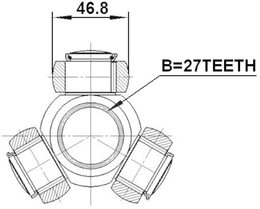 Spider Assembly Slide Joint Febest 0116-GSV40 OEM 43040