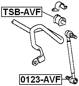 Front Stabilizer Sway Bar Link FEBEST 0123-AVF OEM