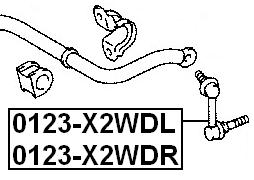 Front Left Stabilizer Link / Sway Bar Link For Toyota Mark