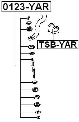 Front Stabilizer Sway Bar Link FEBEST 0123-YAR OEM 48819