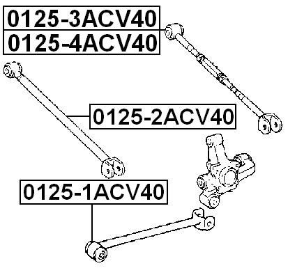 Rear Track Control Rod Left FEBEST 0125-4ACV40 OEM 48740