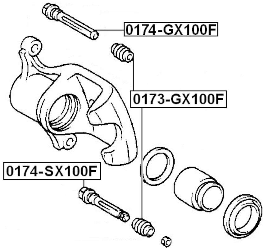 Disc Brake Caliper Guide Pin For 2005 Toyota RAV4 (USA