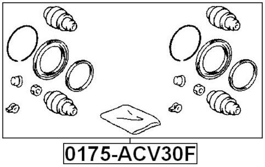 Disc Brake Caliper Repair Kit For 2007 Lexus ES350 (USA