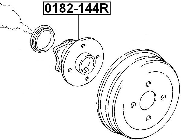 Rear Wheel Hub For Toyota Corolla Axio/Fielder Nze144 4Wd