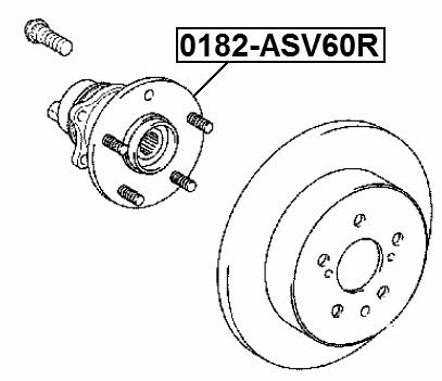 Fits Lexus ES300 Rear Wheel Hub Febest 0182-ASV60R OEM