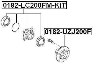 Front Wheel Hub Kit Febest 0182-LC200FM-KIT Oem 43570