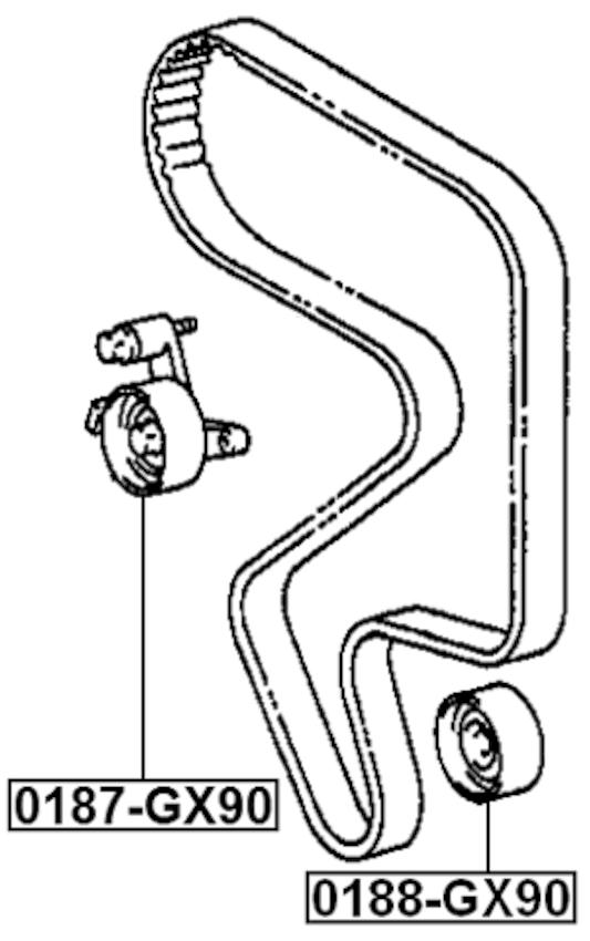 Engine Timing Belt Tensioner Pulley ( SW21 5SFE ) For 1994