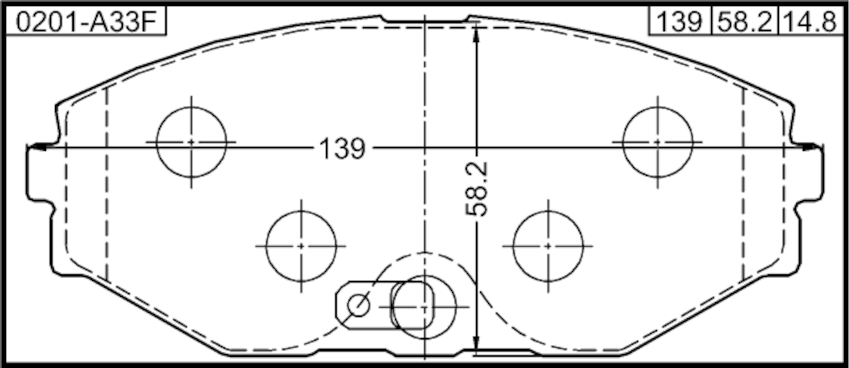 Disc Brake Pad Front Febest 0201-A33F fits 93-97 Infiniti