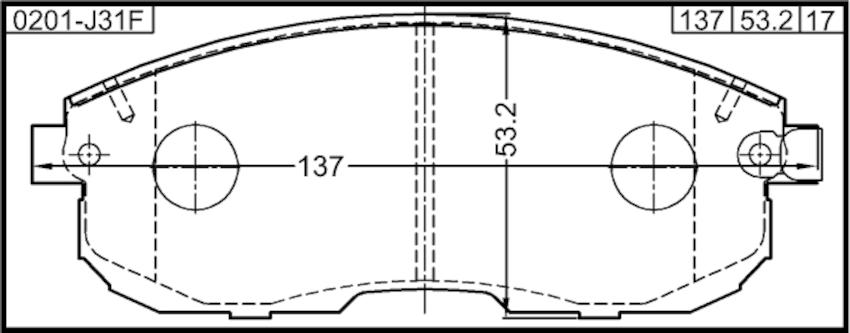 Brake Pad Kit FEBEST 0201-J31F OEM 55810-80J51