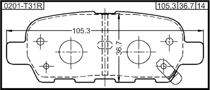 Pad Kit Disc Brake Rear Febest 0201-T31R Oem D4060-JA00A