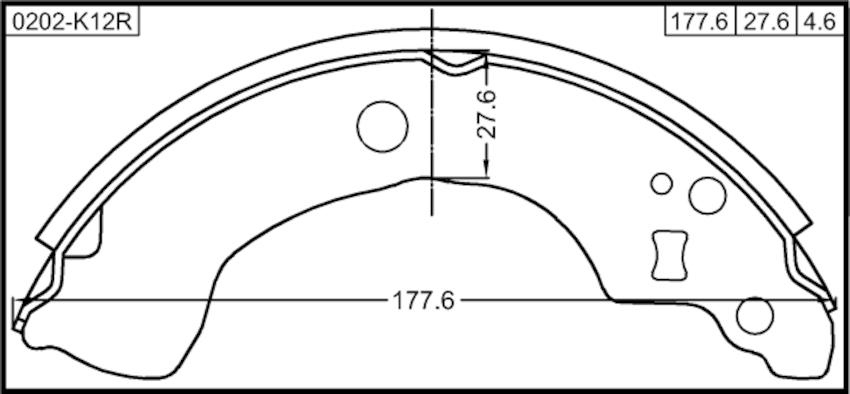 Shoe Kit Rear Brake Febest 0202-N16R OEM 44060-8M125