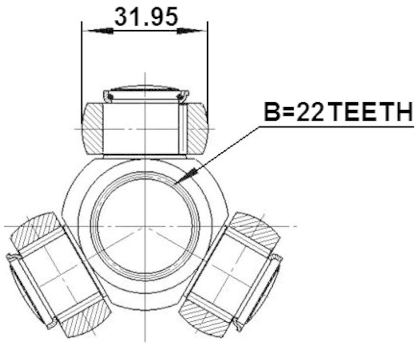 Spider Assembly Slide Joint Febest 0216-B10 Oem 39100