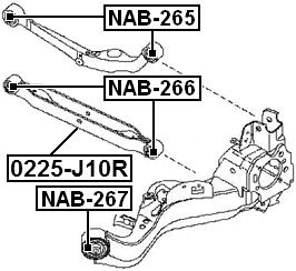 Rear Lower Track Control Rod Febest 0225-J10R Oem 55110