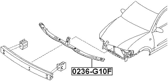 For Nissan Almera Retainer Front Bumper FEBEST 0236-G10F