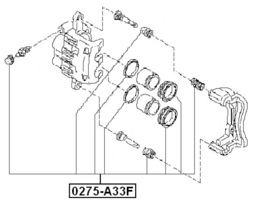 Disc Brake Caliper Repair Kit For 1995 Nissan Pickup (CAN