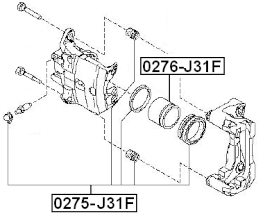 Disc Brake Caliper Piston ( Standard ) For 2009 Nissan
