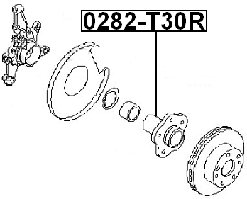 Rear Wheel Hub w/o Bearing FEBEST 0282-T30R OEM 43202