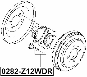 Rear Wheel Hub Febest 0282-Z12WDR OEM 43202-ED305