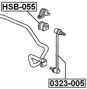 Suspension Stabilizer Bar Link For 2002 Honda Odyssey (USA
