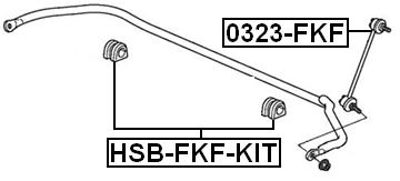 Front Sway Bar Link Stabilizer FEBEST 0323-FKF OEM 51320