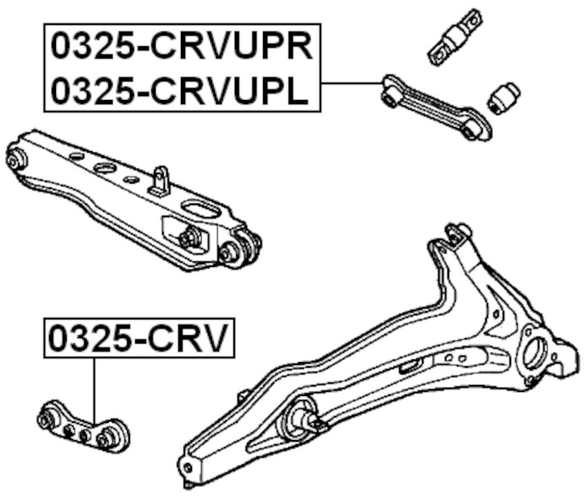 For HONDA CR-V RD1/RD2 1997-2001 RIGHT REAR UPPER ROD OEM