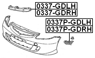 For HONDA JAZZ/FIT GD# 2002-2008 Retainer Front Bumper