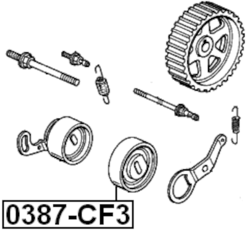 Engine Timing Idler Pulley ( BB1 Standard H22A1 ) For 1993