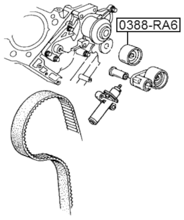 Pulley Idler Timing Belt Febest 0388-RA6 Oem 14550-PGE-A01