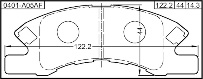 Pad Kit, Disc Brake, Front Febest 0401-A05AF Oem 4605B006