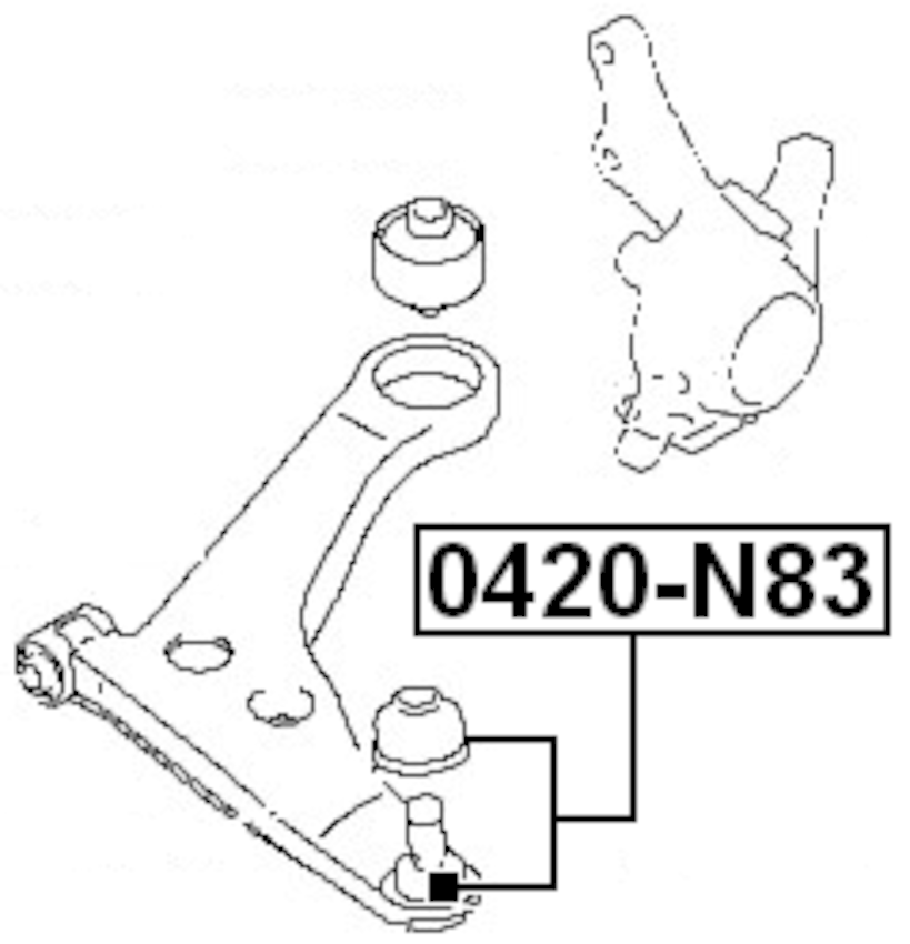 Ball Joint Front Lower Arm For Mitsubishi Chariot/Space