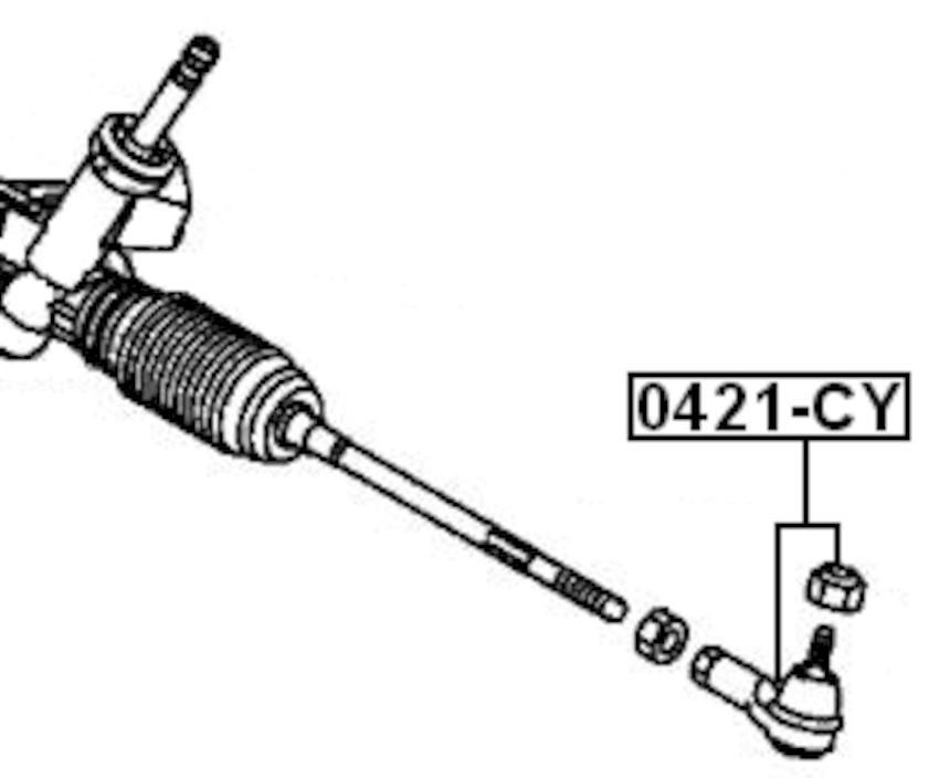 Steering Tie Rod End ( CY4A Automatic CVT ) For 2009