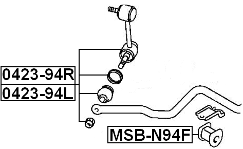 Front Right Stabilizer Link / Sway Bar Link Febest 0423