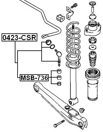 Rear Sway Bar Link Stabilizer FEBEST 0423-CSR OEM 54618