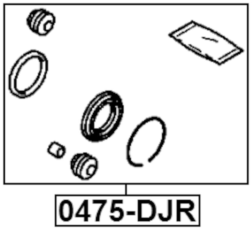 Brake Cylinder Caliper Repair Kit FEBEST 0475-DJR OEM