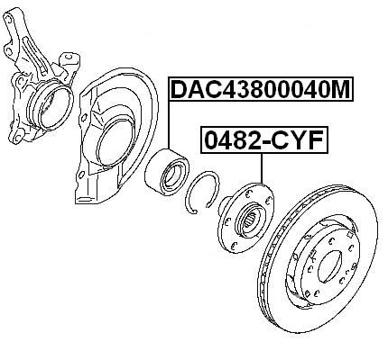 Wheel Hub ( CY4A Automatic CVT ) For 2008 Mitsubishi