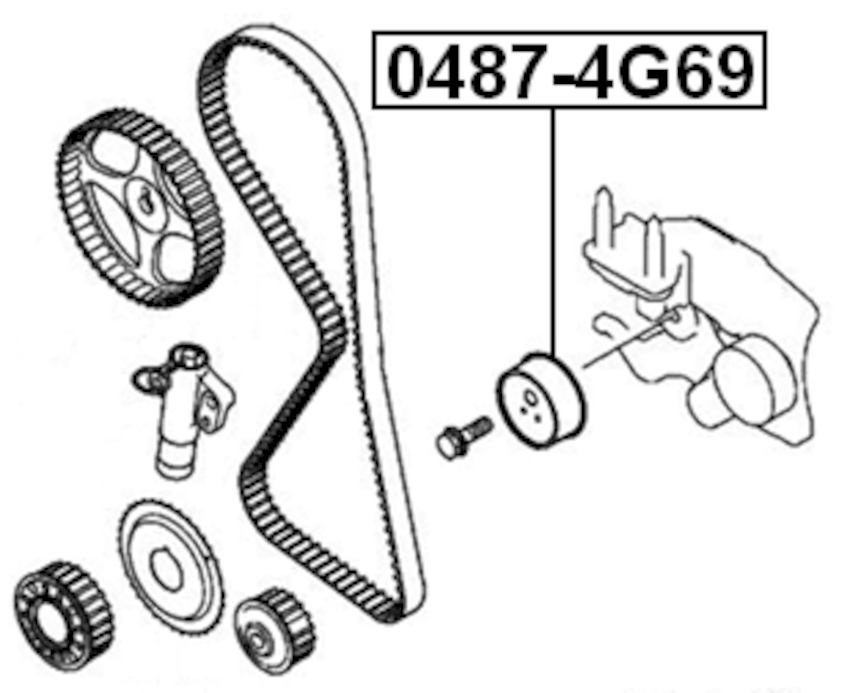 Engine Timing Belt Tensioner Bearing ( N/A ) For 2004