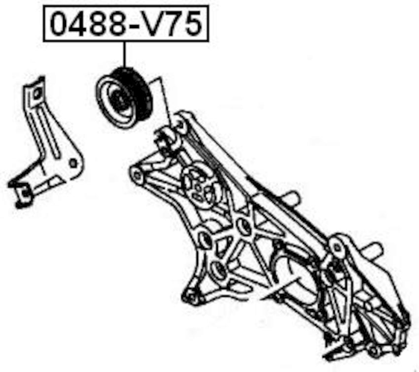 MITSUBISHI PAJERO III MONTERO V65W/V75W 2000-2006 PULLEY
