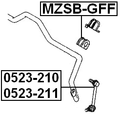 Front Right Sway Bar Link Stabilizer FEBEST 0523-210 OEM