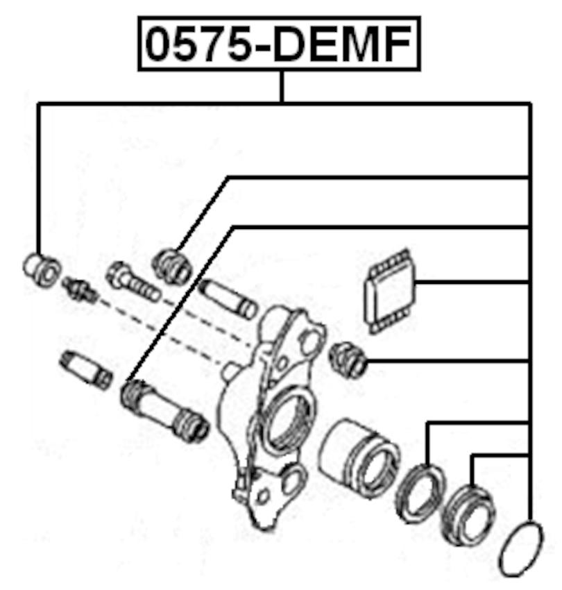 MAZDA DEMIO DW3/DW5 1996-2002 Brake Cylinder Caliper