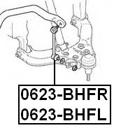 Front Left Stabilizer Link / Sway Bar Link Febest 0623