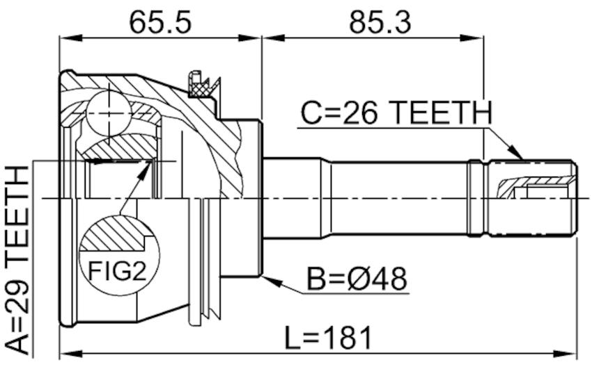 CV Joint ( Automatic ) For 2000 Suzuki Grand Vitara