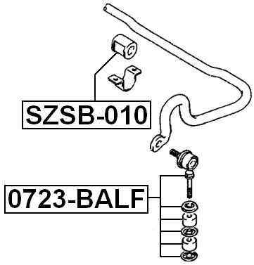 FRONT STABILIZER LINK / SWAY BAR LINK SUZUKI BALENO SY418