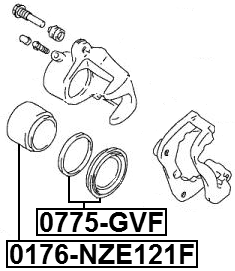 Disc Brake Caliper Repair Kit For 2000 Suzuki Grand Vitara