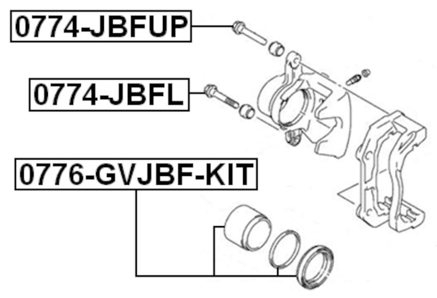 Disc Brake Caliper Piston Front Inner Febest fits 06-12