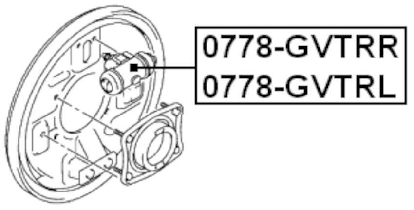 Rear Right Brake Cylinder Febest 0778-GVTRR Oem 53401