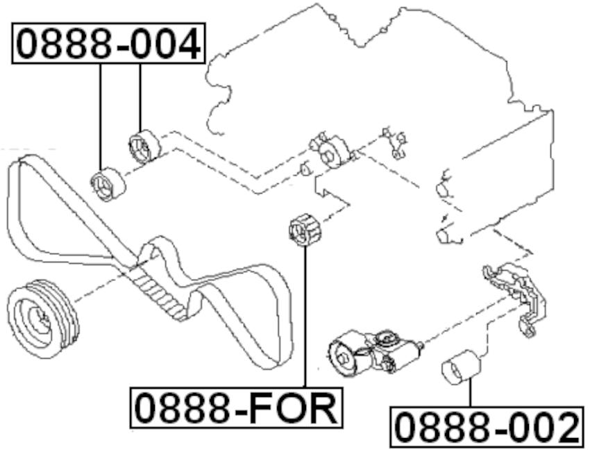 Pulley Idler Timing Belt for SUBARU IMPREZA G11 2000-2007