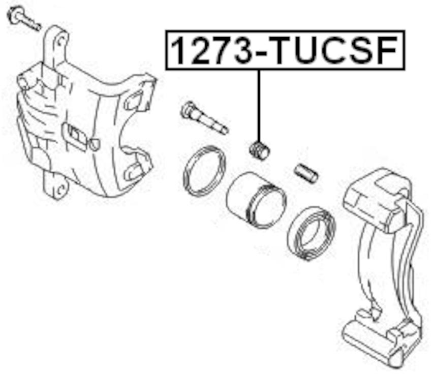 Front Brake Caliper Slide Pin Boot Pcs 10 Febest 1273