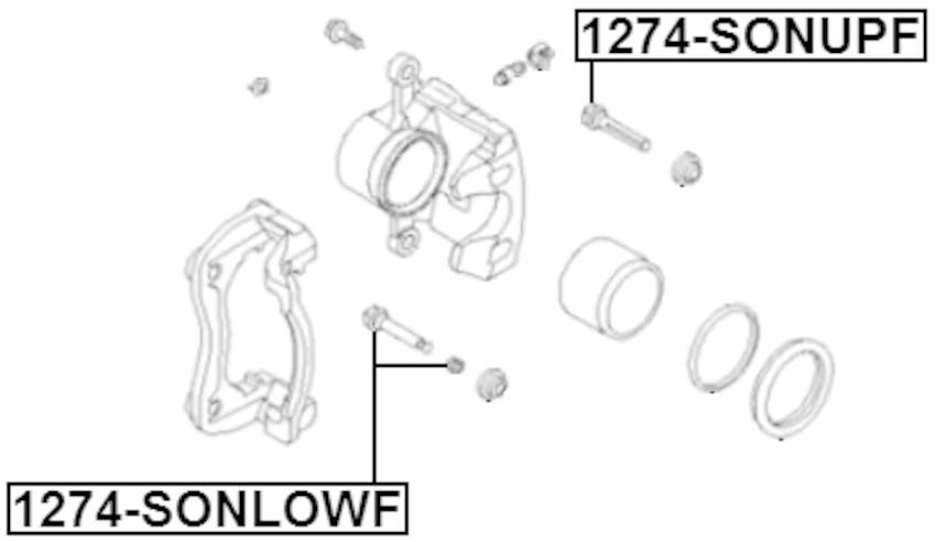 Pin Slide Front Febest 1274-SONLOWF Oem 58162-1H000